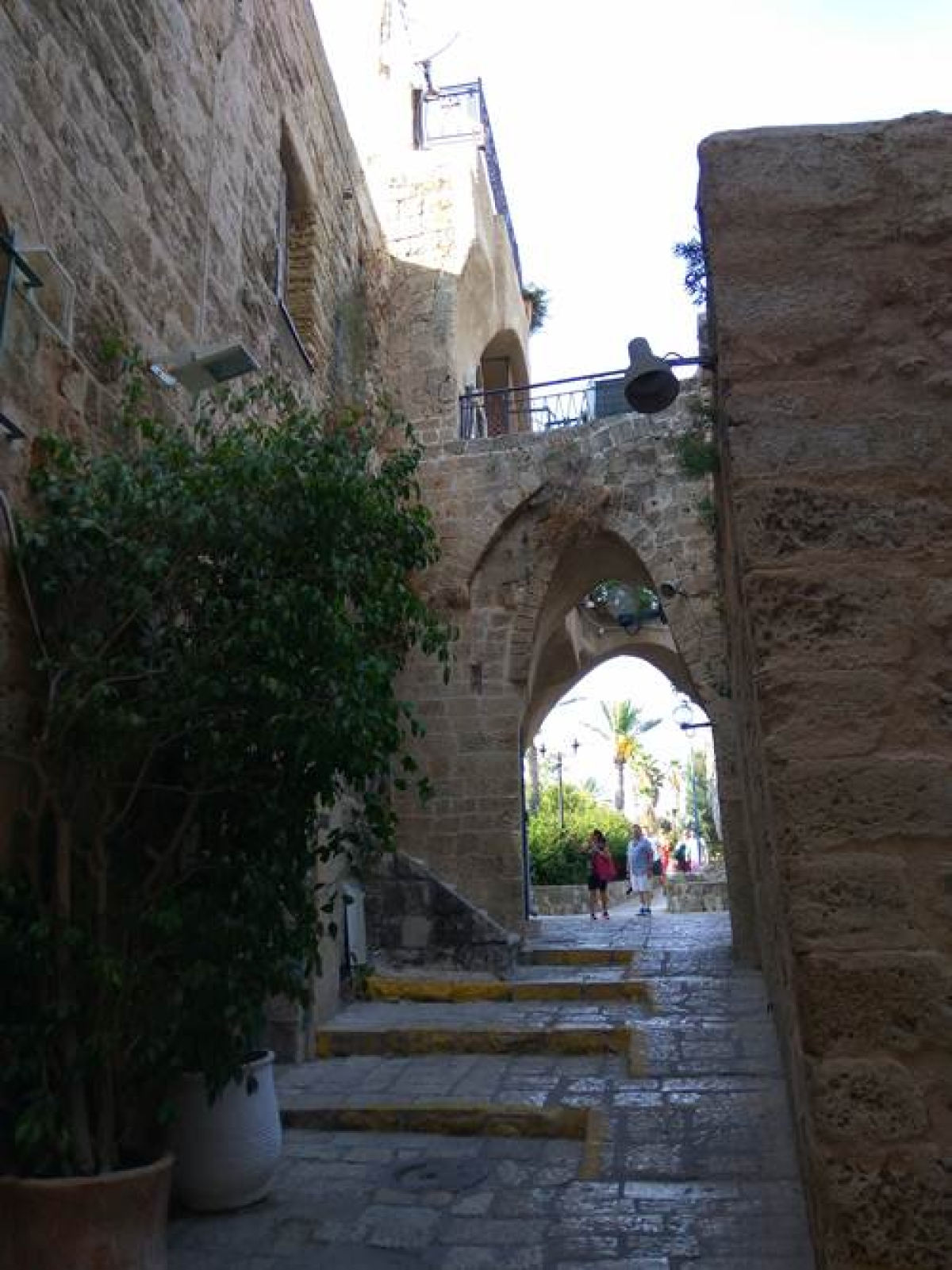 One of the many narrow lanes in Jaffa