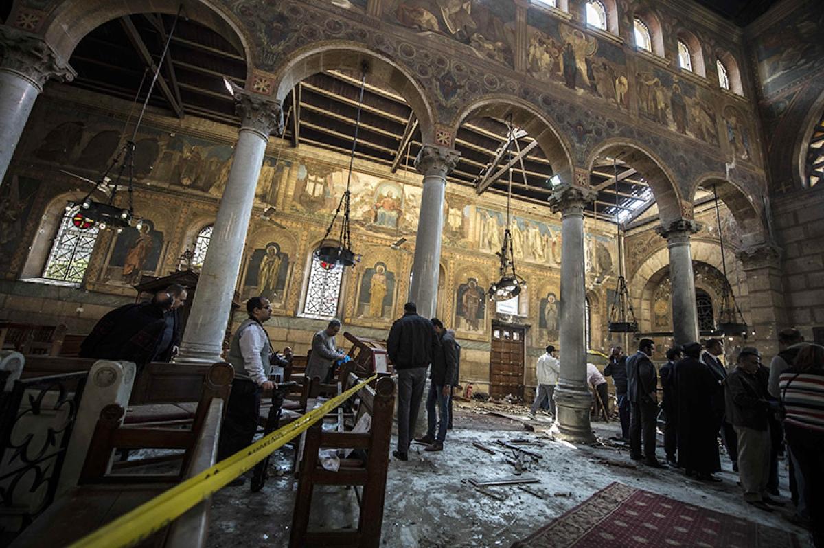Coptic cathedral blast kills at least 25