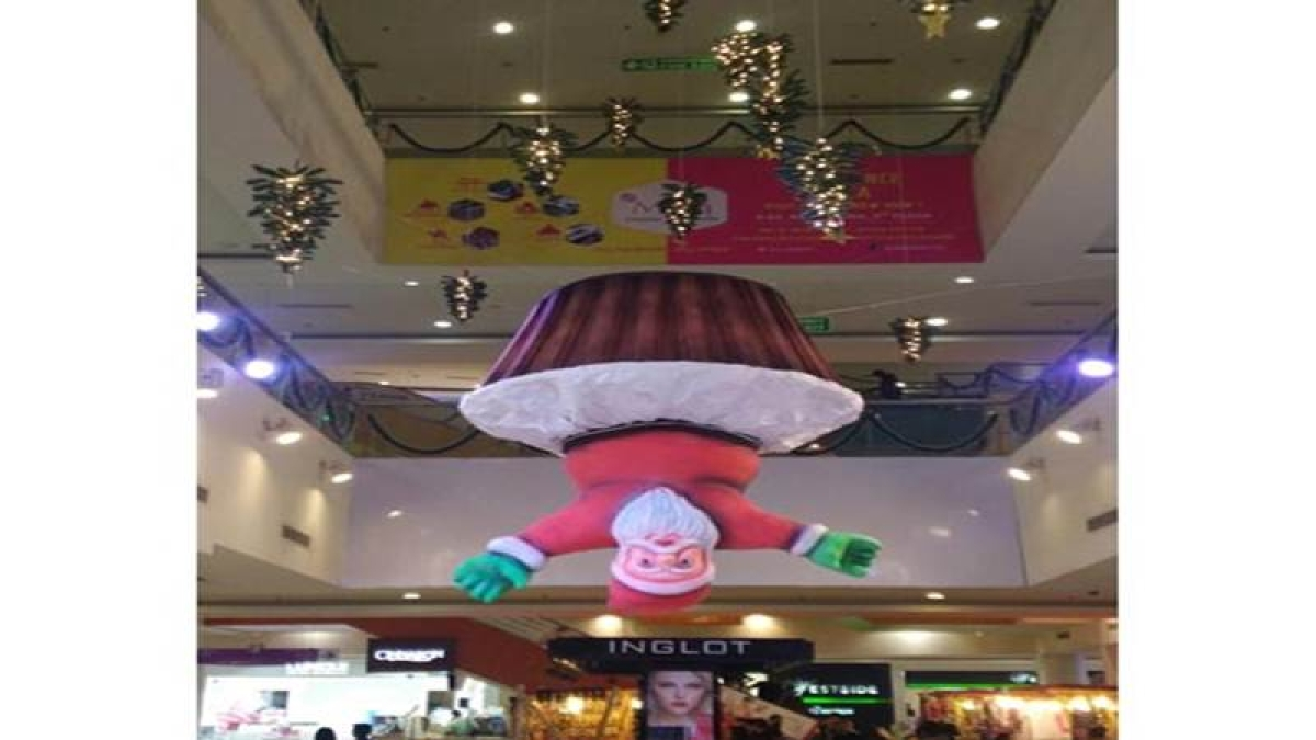 Mumbai: 'Bizarre' Christmas décor removed from mall after protests