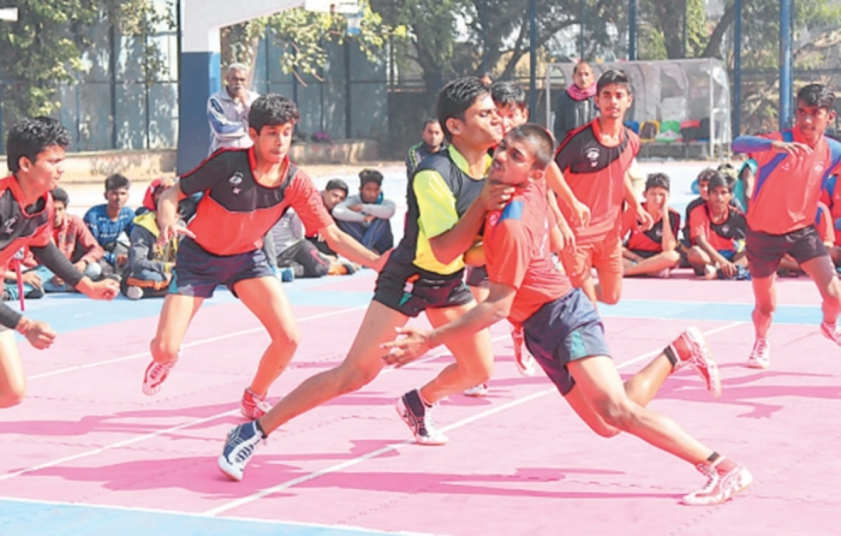 Bhopal division players win in athletics, karate, wrestling