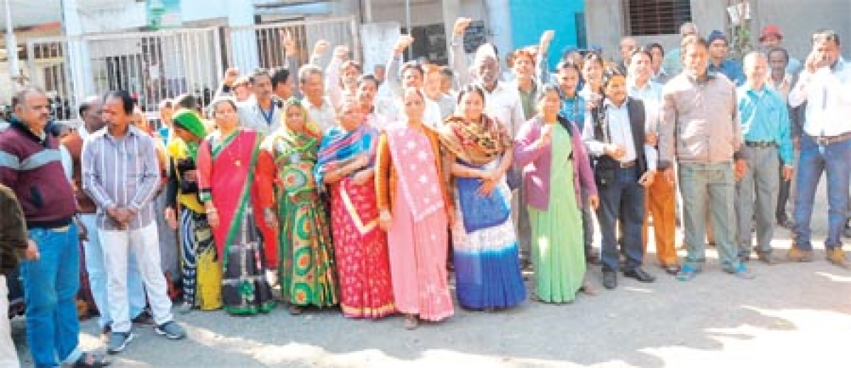 Ujjain: PHED employees stage pen-down strike; demand pending salaries