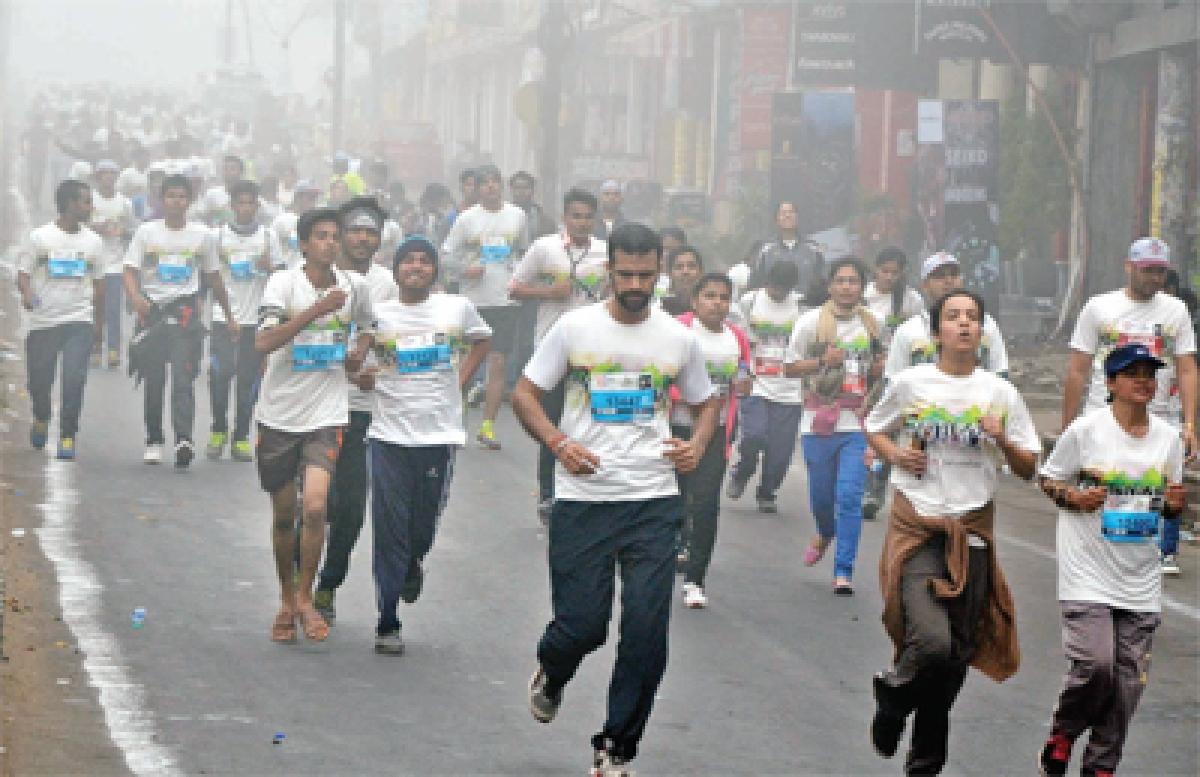 Bhopal: People gathered for 'Run Bhopal Run' Half Marathon