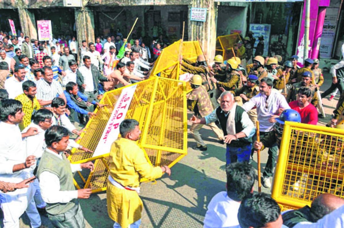 Ujjain: Internal feud mars Congress agitation against note ban
