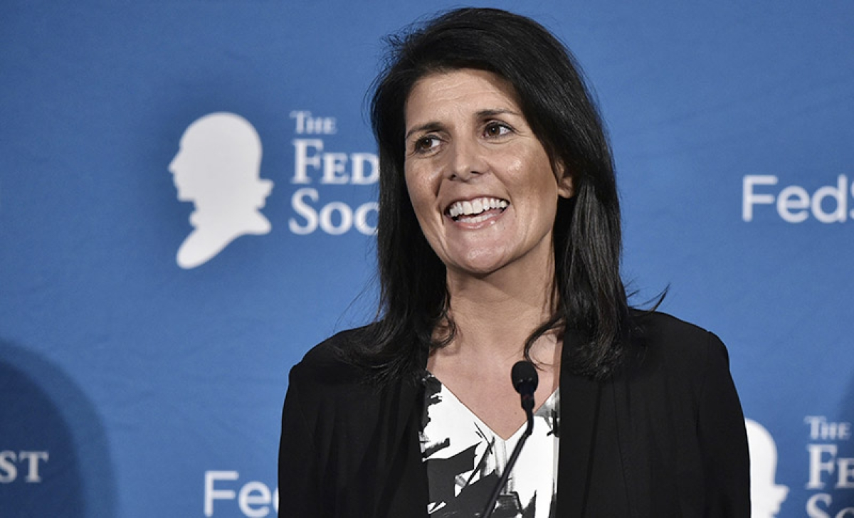 Haley sworn in as US envoy to UN : Gets 96 votes with only four voting against her