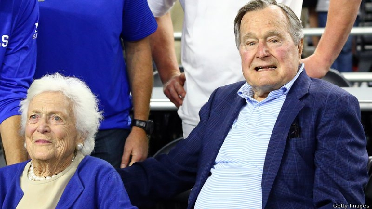 Ex-US President George H W Bush and his wife admitted to hospital