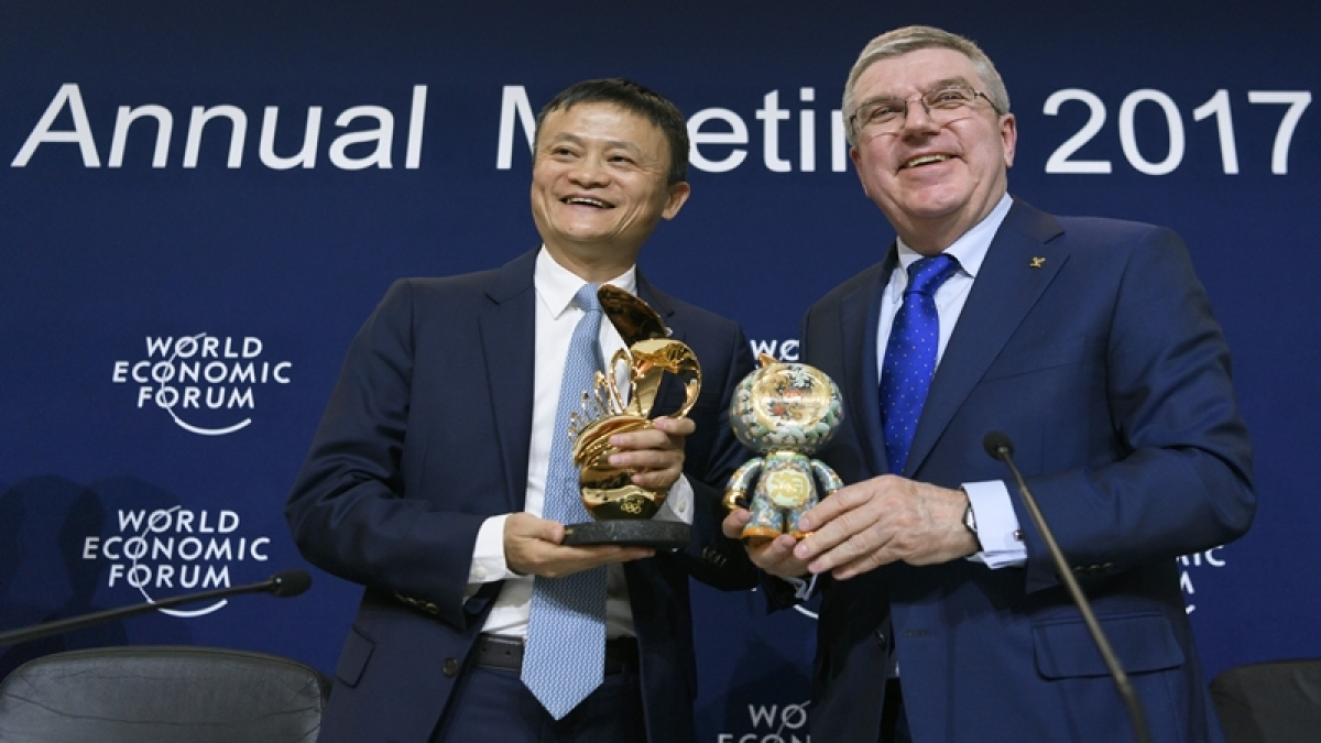 Alibaba shares surge on debut