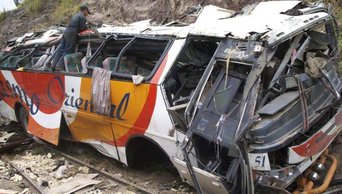 At least 19 dead, 17 hurt in Ecuador bus crash