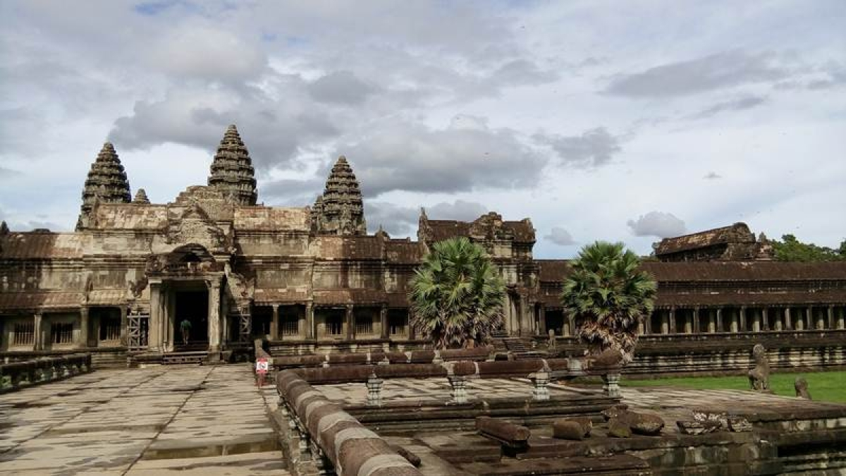 Angkor Wat viewed from the inner courtyard