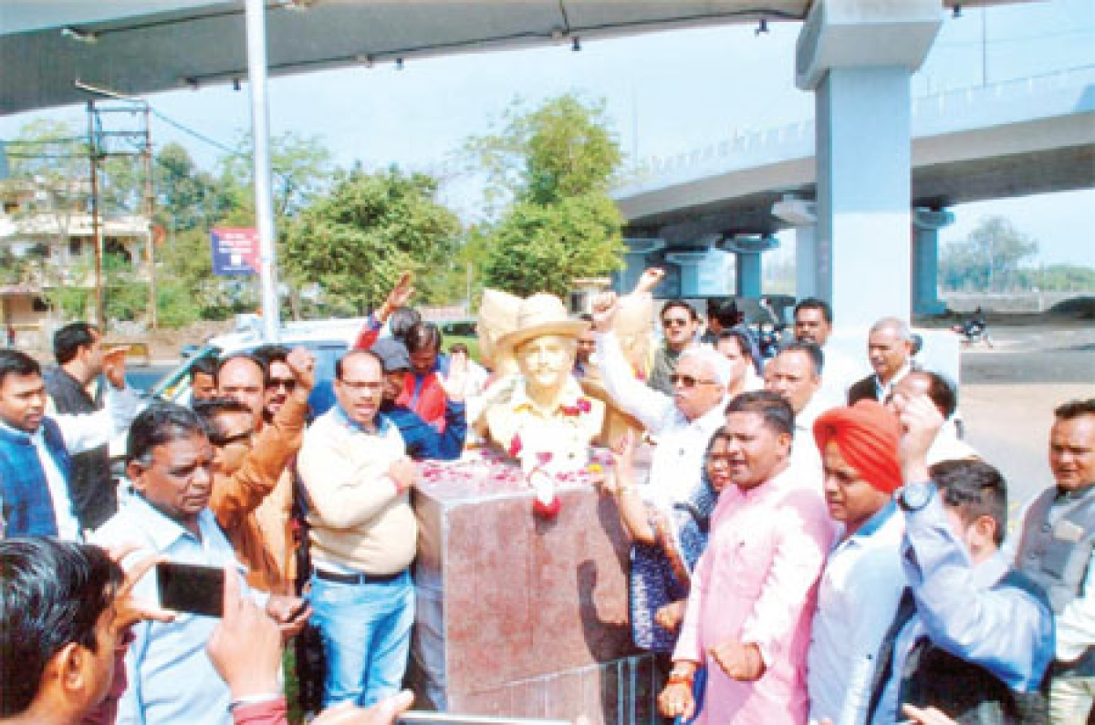 Bhopal: MLA, BMC chairman pay tributes to Bhagat Singh