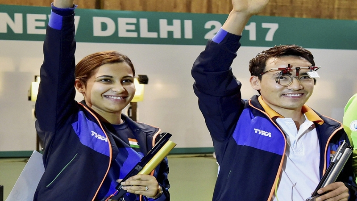 Jitu Rai, Heena Sidhu win mixed team event for 10m air pistol at ISSF World Cup