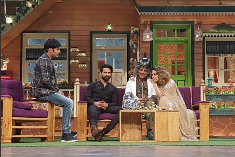 In Pictures: Shahid and Kangana on the The Kapil Sharma Show for Rangoon