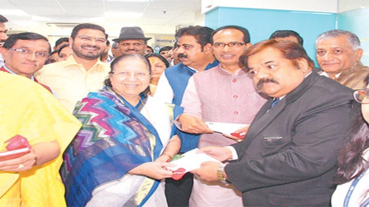 Indore: CM, VK Singh launch centre under Speaker Mahajan's watchful eyes