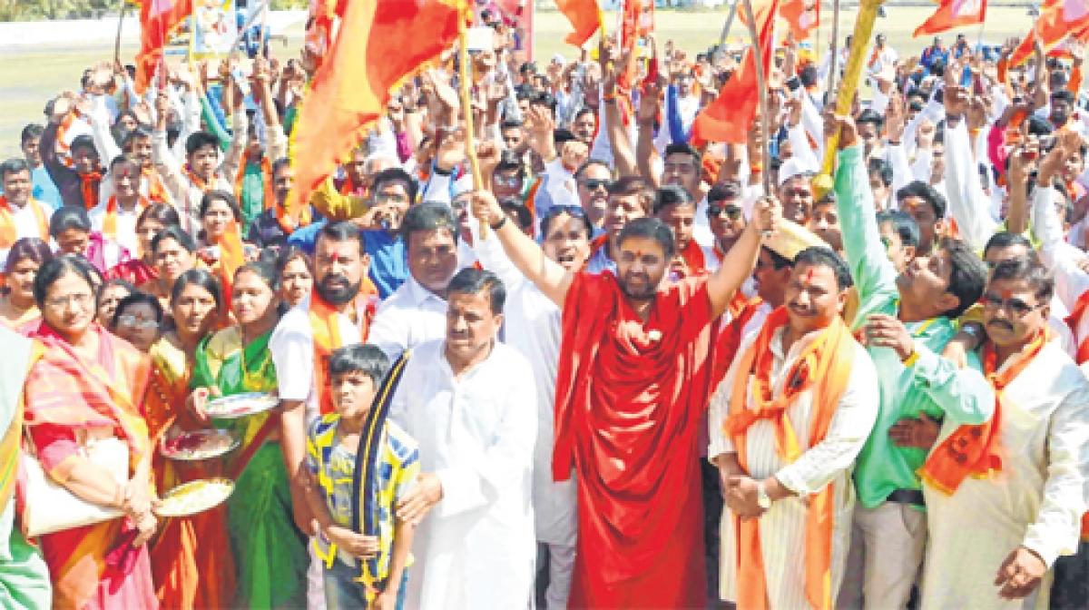 Ujjain: Marathi community celebrates birth anniversary of Chhatrapati Shivaji