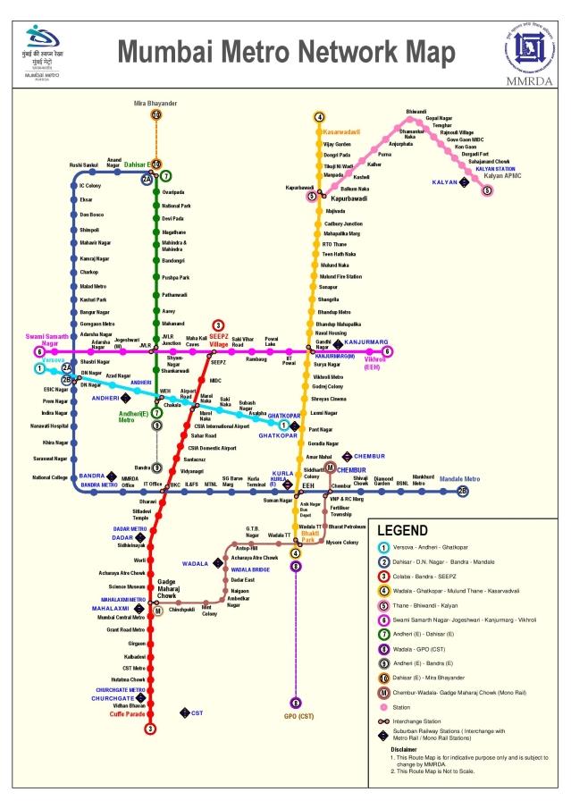 Mumbai metro: Full map of Metro railway station