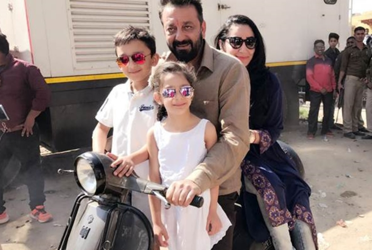 Sanjay Dutt's scooter ride with his family
