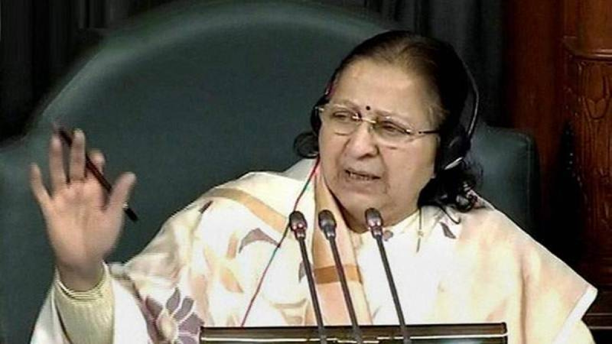 Automatically suspend members who enter well of house, panel tells speaker Sumitra Mahajan