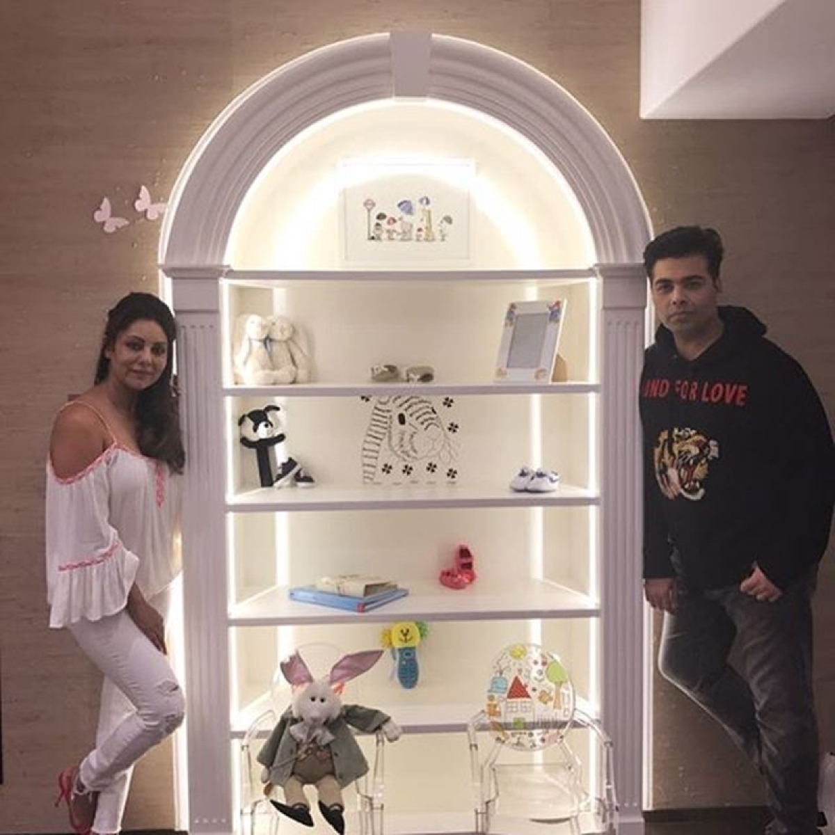 KJo shares a glimpse of baby nursery for Roohi and Yash made by Gauri Khan