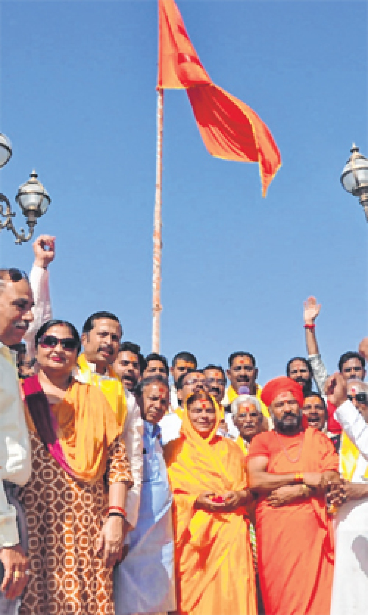 Towards a saffron Trimurti at Centre