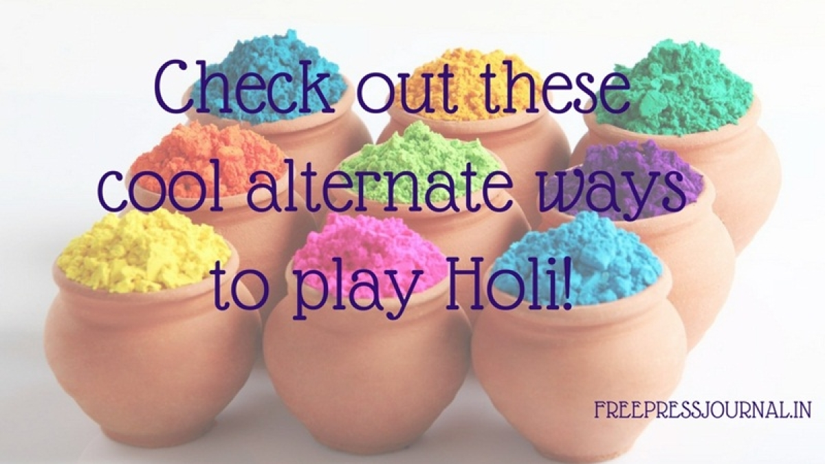 Eco-friendly Holi 2017: Check out these cool alternate ways to play Holi!
