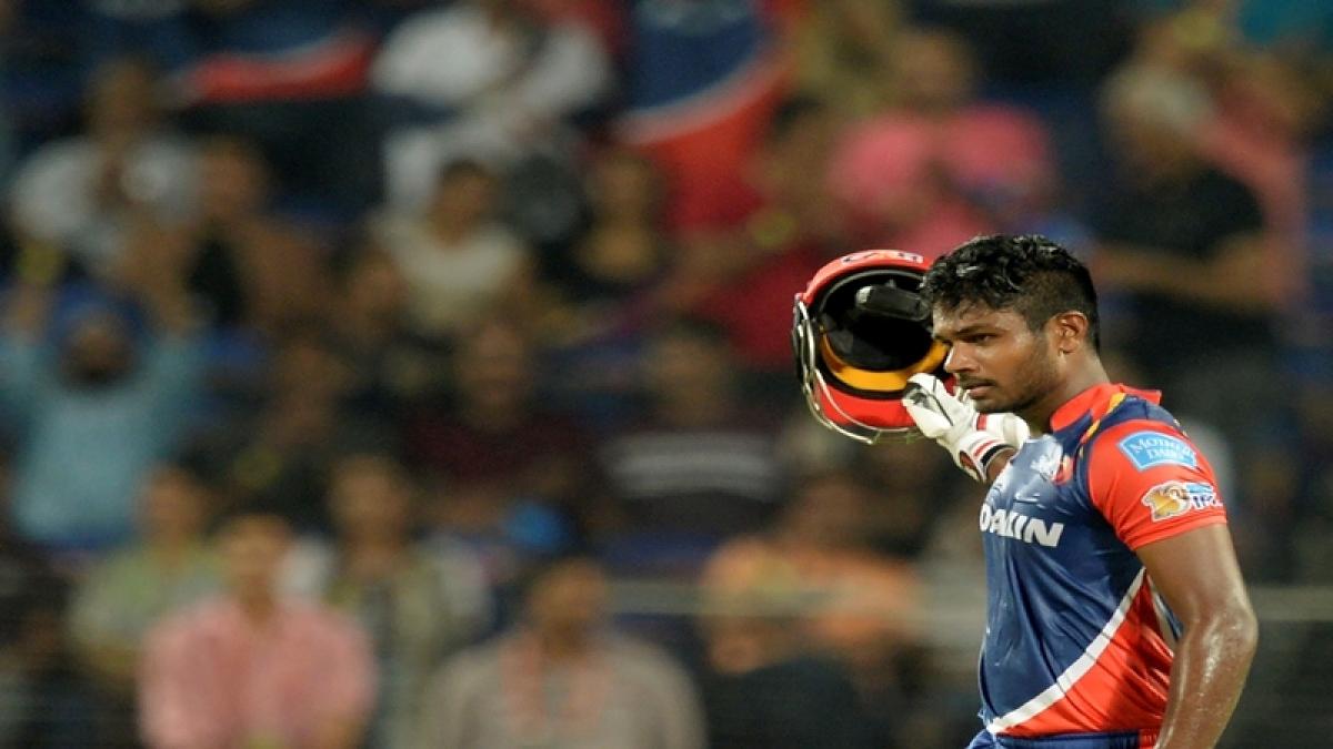 IPL 2017: Sanju Samson hits season's first ton, Delhi crush RPS by 97 runs