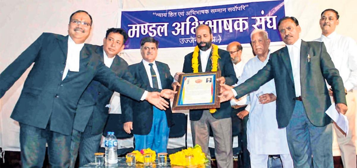 Ujjain: Newly appointed office-bearers of Bar Association take oath