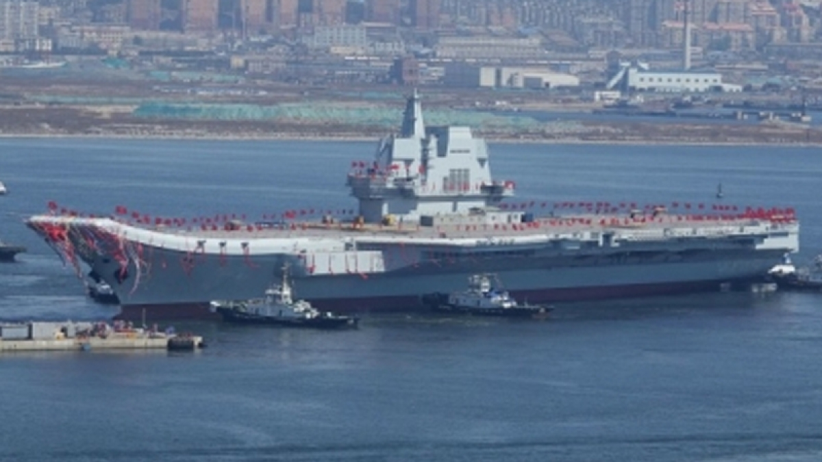 China launches first home-made aircraft carrier amid regional rift
