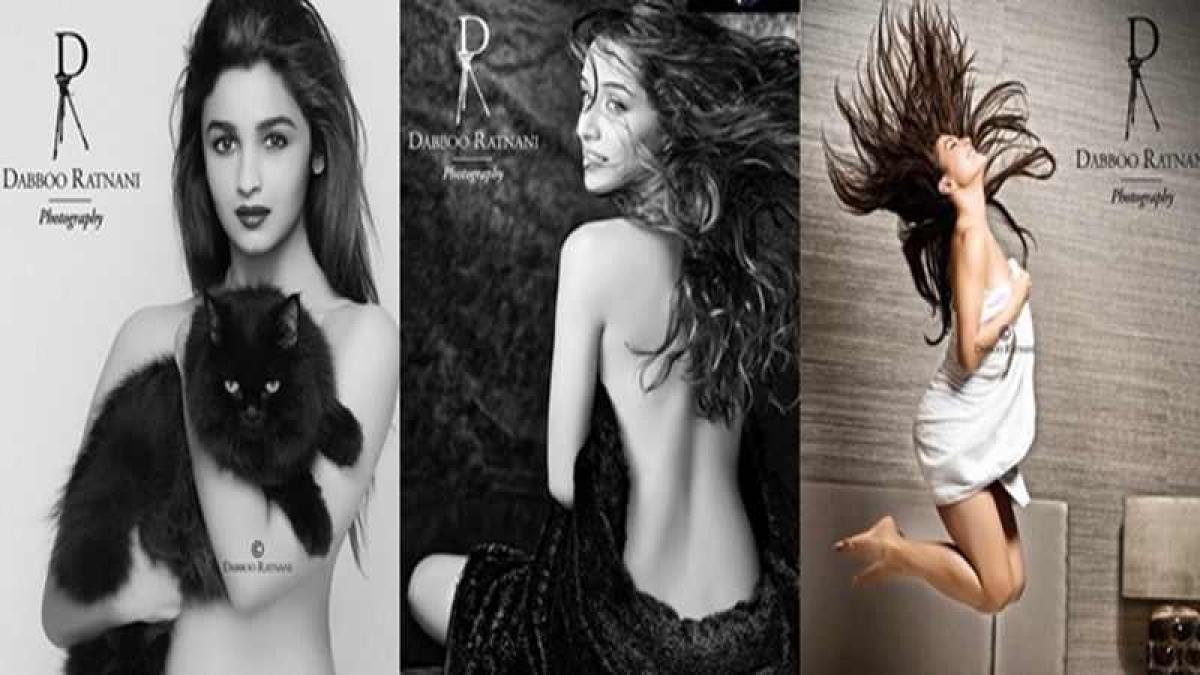 Alia, Shraddha and Jacqueline pose topless for Dabboo Ratnani calendar photoshoot