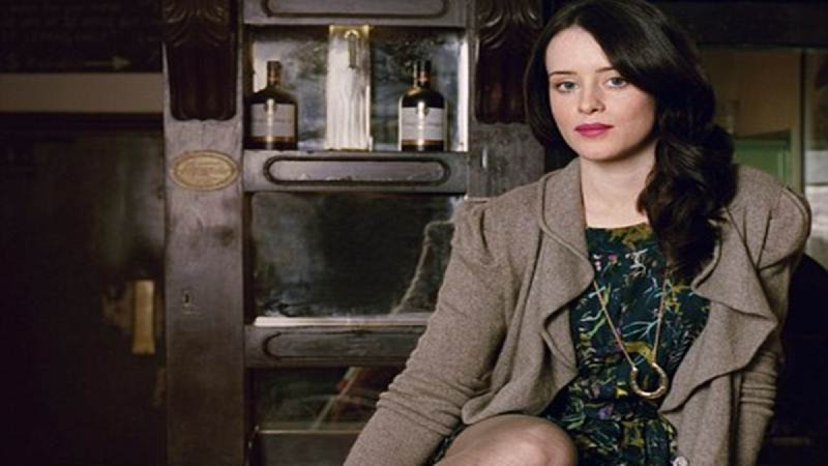 Claire Foy caught in the web