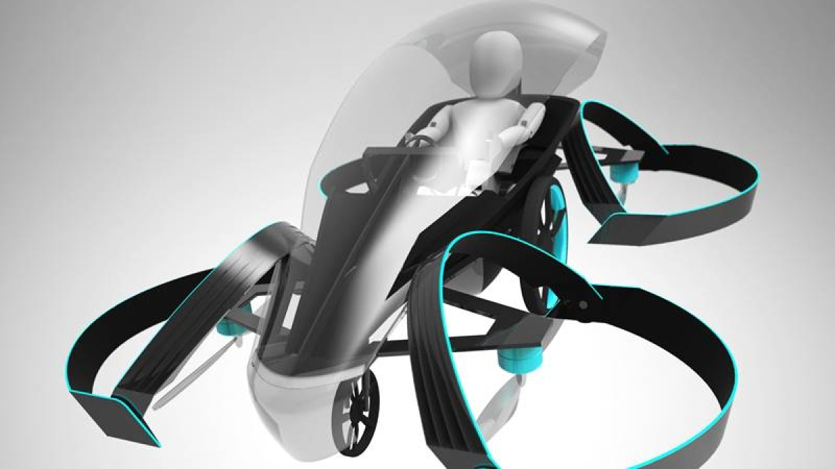 Launch of a flying car for the Tokyo 2020 Olympics
