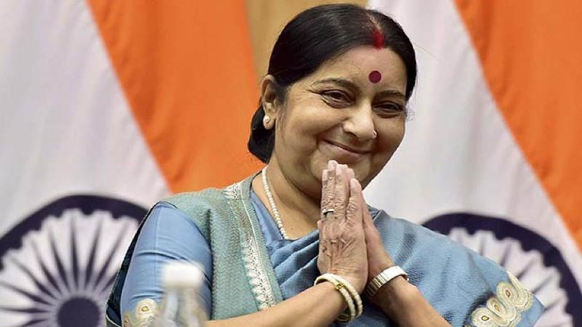 Mahatma Gandhi, Nelson Mandela gave hope to people facing discrimination, says Sushma Swaraj