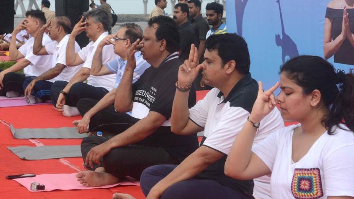 Photos: Mumbai celebrates International Yoga Day 2017, CM Fadnavis leads the way