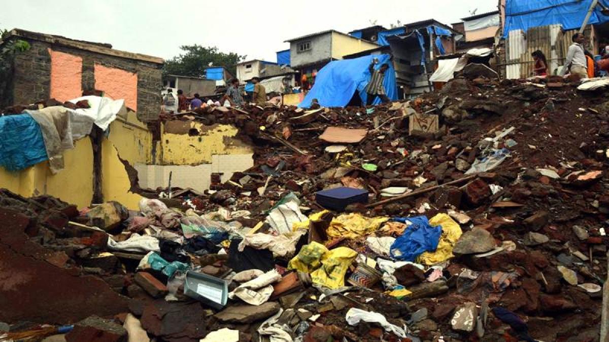 Mumbai: Two-year-old boy injured in Ghatkopar landslide as debris fall on house