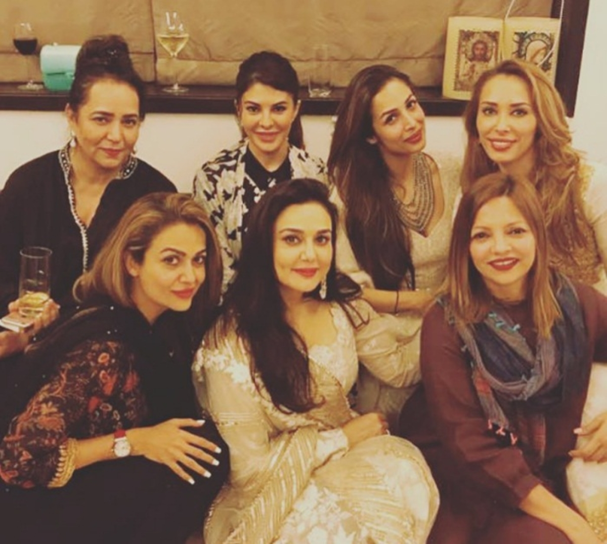 Eid al-Fitr 2017: Amrita Arora celebrates with Malaika and Iulia at Salman Khan's residence