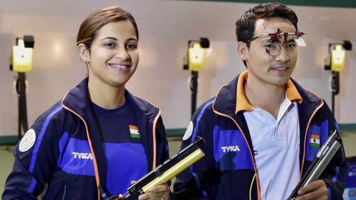 ISSF World Cup: Jitu Rai, Heena Sidhu bag gold in Mixed Team 10m Air Pistol event