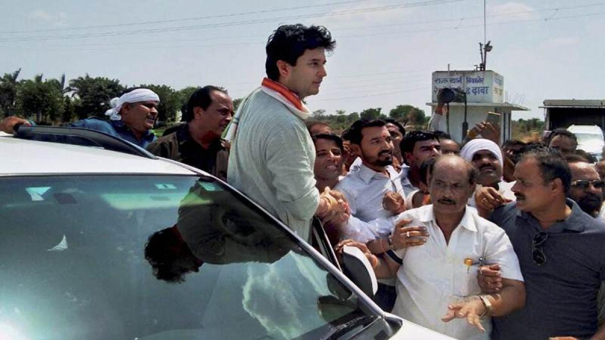 Bhopal: Scindia begins 72-hr 'satyagraha' for farmers