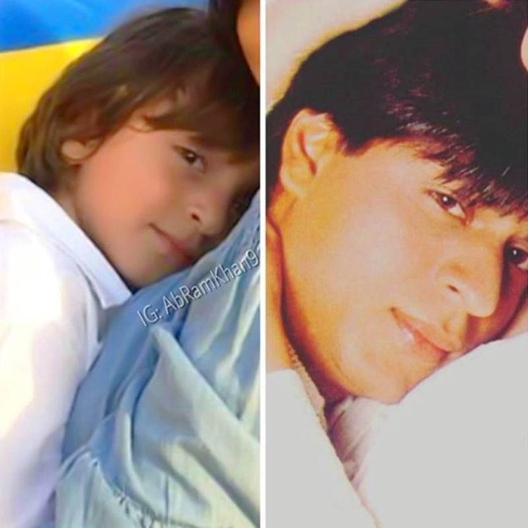 Shah Rukh and his son AbRam strike an awesome pose in this picture