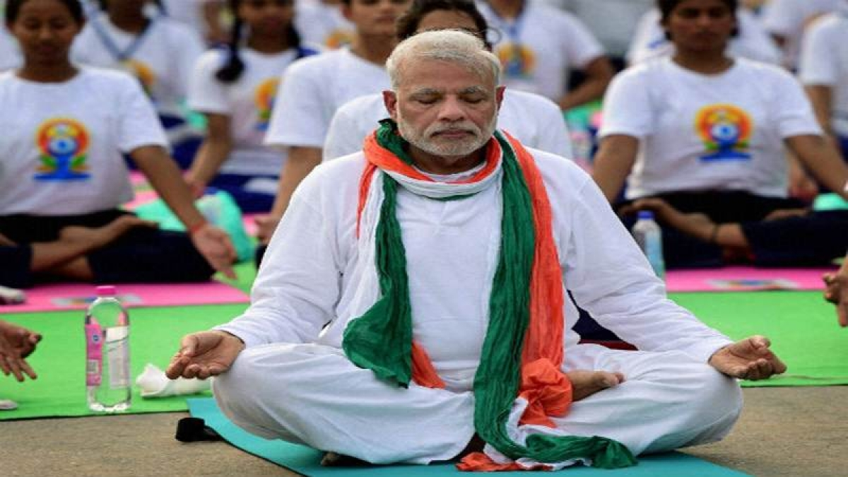 Gearing up for Yoga Day, PM Modi posts 'Vakrasana' video
