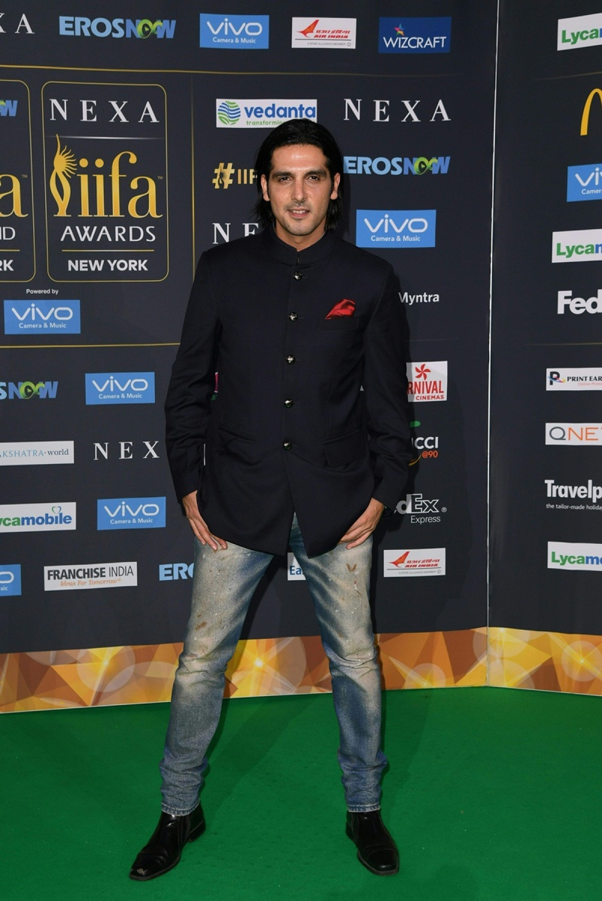 Bollywood actor Zaheed Khan arrives for the IIFA Awards July 15, 2017 at the MetLife Stadium in East Rutherford, New Jersey during the 18th International Indian Film Academy (IIFA) Festival. / AFP PHOTO / ANGELA WEISS
