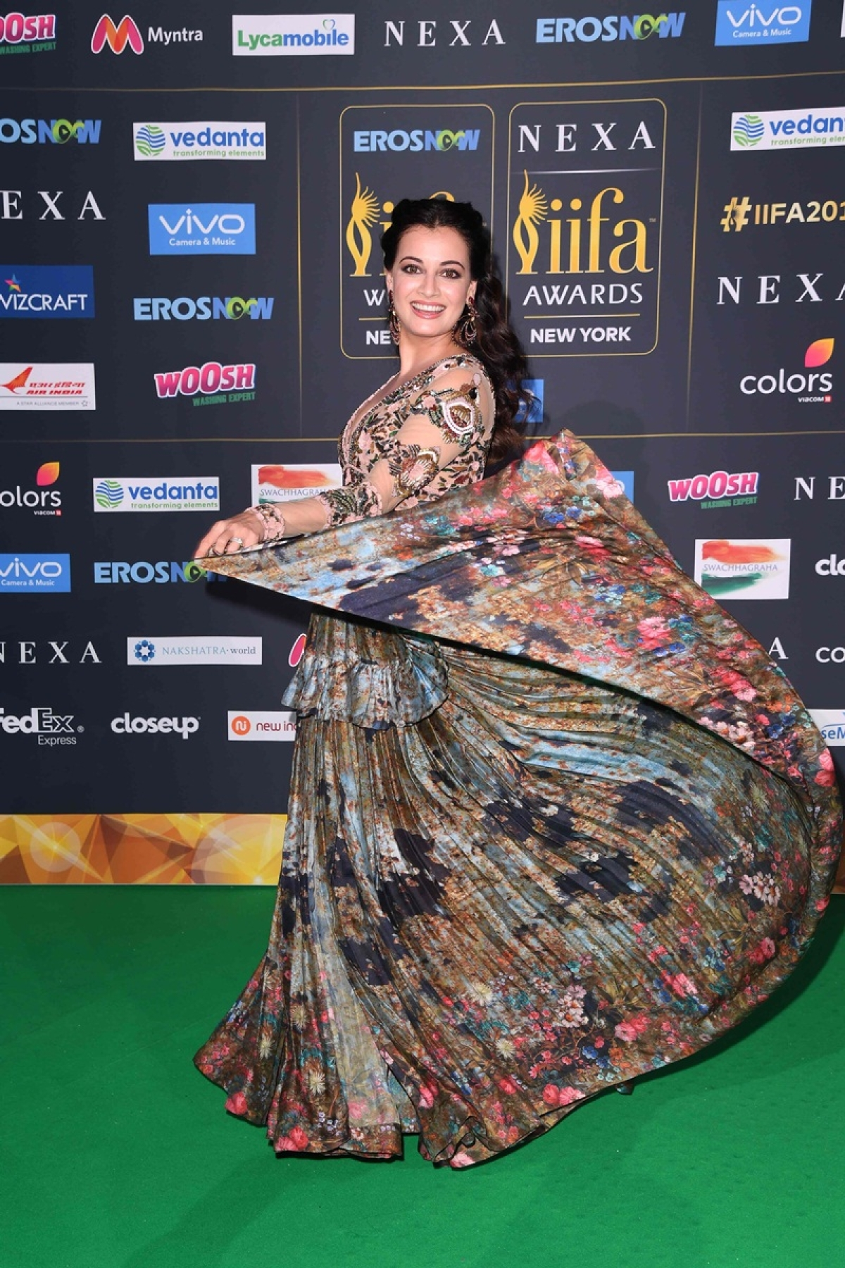 Bollywood actress Dia Mirza arrives for the IIFA Awards July 15, 2017 at the MetLife Stadium in East Rutherford, New Jersey during the 18th International Indian Film Academy (IIFA) Festival. / AFP PHOTO / ANGELA WEISS