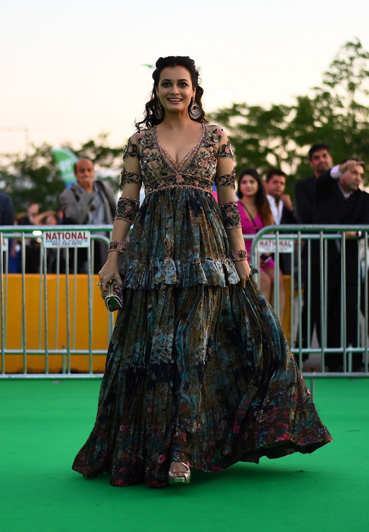 Bollywood actress Dia Mirza arrives for the IIFA Awards of the 18th International Indian Film Academy (IIFA) Festival at the MetLife Stadium in East Rutherford, New Jersey, on July 15, 2017. / AFP PHOTO / JEWEL SAMAD