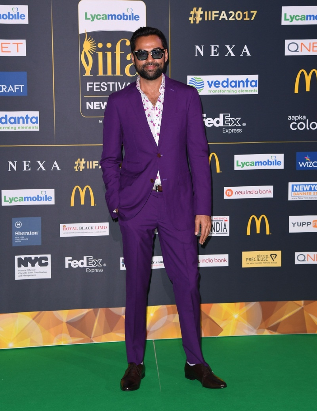 Bollywood actor Abhay Deol arrives for the IIFA Awards July 15, 2017 at the MetLife Stadium in East Rutherford, New Jersey during the 18th International Indian Film Academy (IIFA) Festival. / AFP PHOTO / ANGELA WEISS