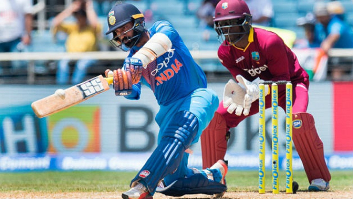 India post challenging total vs West Indies