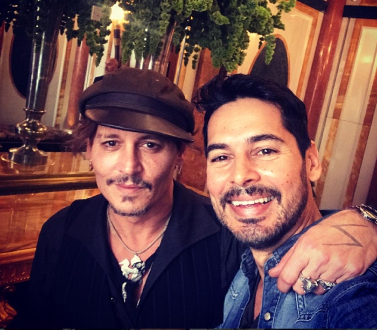 Dino Morea, Nandita Mahtani's 'fan' moment with Johnny Depp