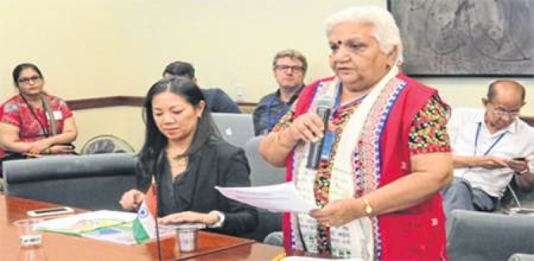 Indore: Dr McGilligan shares struggle of empowering tribal women at UN