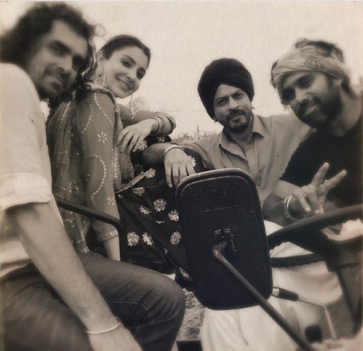 Watch: Shah Rukh Khan gives desi feels driving a tractor in Punjab