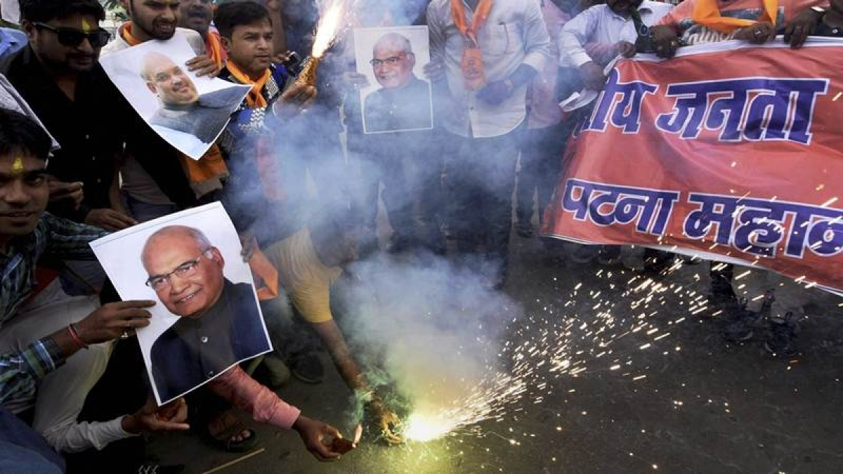 Celebrations start in Ram Nath Kovind's village ahead of Presidential polls result