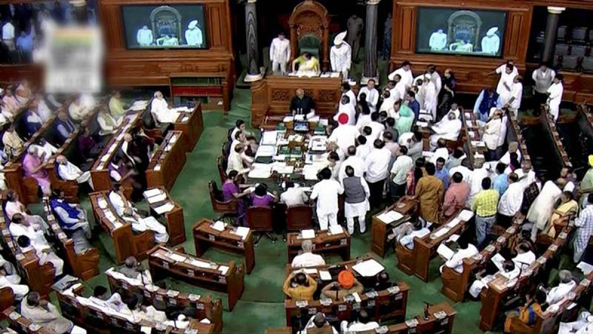 Lok Sabha adjourned twice after opposition ruckus