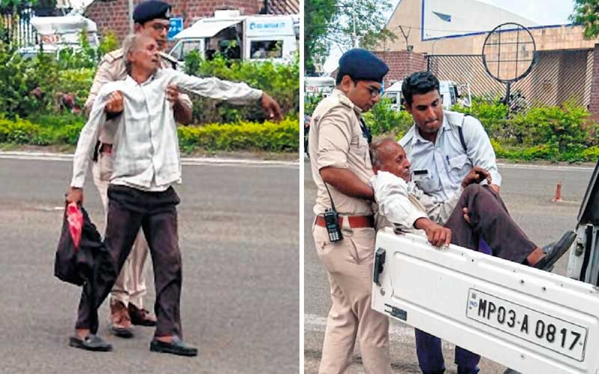 Bhopal: Man tries to commit suicide before CM's cavalcade, held