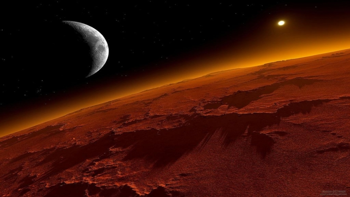 When Mars got photobombed by its moon Phobos