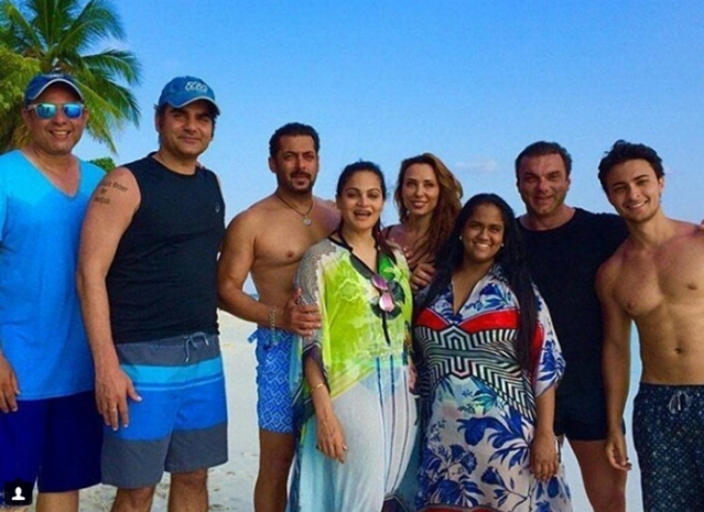 Many times Iulia Vantur was spotted with Salman Khan